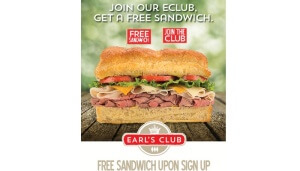 Free Sandwich at Earl of Sandwich