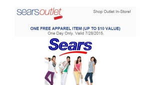 Free Clothes at Sears Outlet
