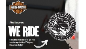 Free We Ride Stickers