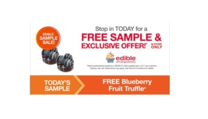 Free Blueberry Fruit Truffle at Edible Arrangements