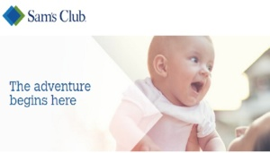 Free Box of Baby Samples at Sam's Club 2016