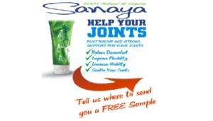 Free Sanaya Organic Pain Relief Cream Sample