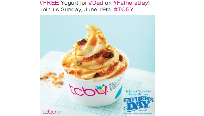 Free Small Frozen Yogurt for Dads at TCBY