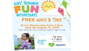 Free Tie Dye a T-shirt Make & Take at A.C. Moore on 06/29