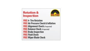 Free Tire Rotation and Inspection