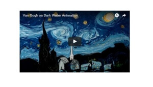Artist Recreates Van Gogh's Starry Night with Water