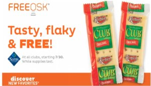 Free Keebler Club Crackers at Sam's Club
