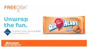 Free Airheads Bars at Sam's Club