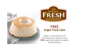 Free Bakery Fresh Goodness Angel Food Cake at Kroger