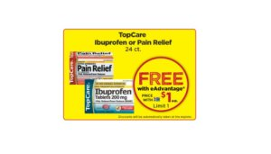 Free TopCare Ibuprofen or Pain Relief Tablets at Giant Eagle