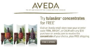 Free Aveda Tulasara Concentrate Sample