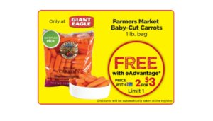 Free Farmers Market Baby-Cut Carrots at Giant Eagle