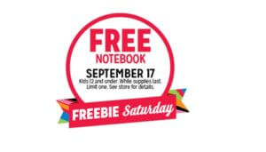 Free Notebook for Kids at Kmart