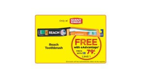 Free Reach Toothbrush at Giant Eagle