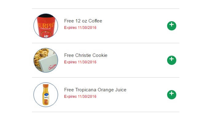 Free Coffee, Christie Cookie and Tropicana Orange Juice at Murphy USA