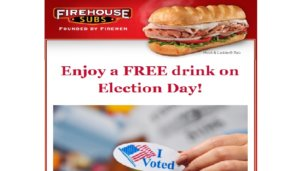 Free Medium Drink at Firehouse Subs on 11/8