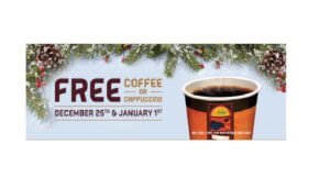 Free Coffee or Cappuccino at APlus on 1/1
