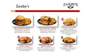 Free Sandwich Meal at Zaxby's