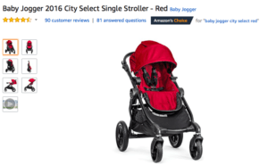 City Select Strollers $360 in Red Color