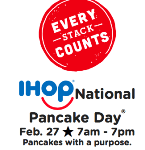 Free Short Stack of Pancakes at IHOP Feb. 27th Only