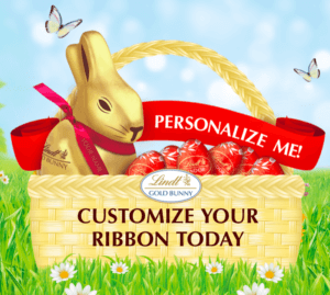 Free Personalized Easter Ribbon by Lindt Chocolate