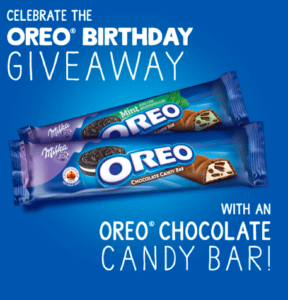 Free Oreo Chocolate Candy Bar