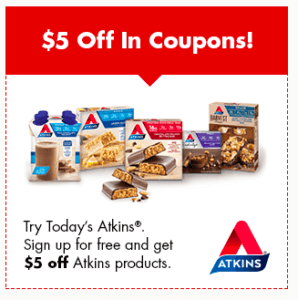 Free Atkins Quick Start Kit Plus $5 Off In Coupons